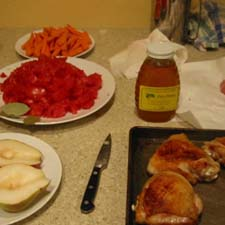 View of ingredients in the kitchen
