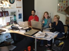 LEAFHouse project managers on conference call