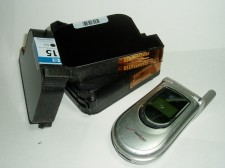 old printer cartridges and cell phone